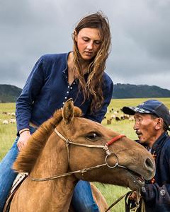 lara and horse